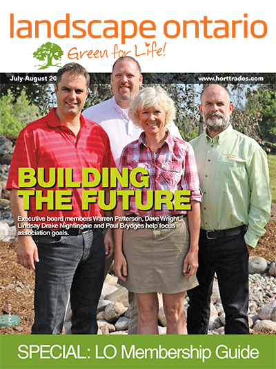 Cover of Landscape Ontario magazine July 2016