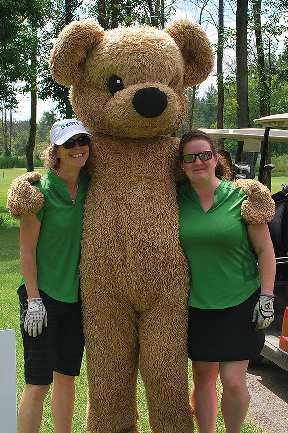 The CHEO Bear visited golfers throughout the day.