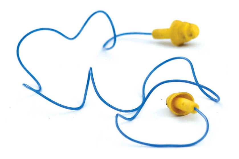 earplugs used for hearing protection