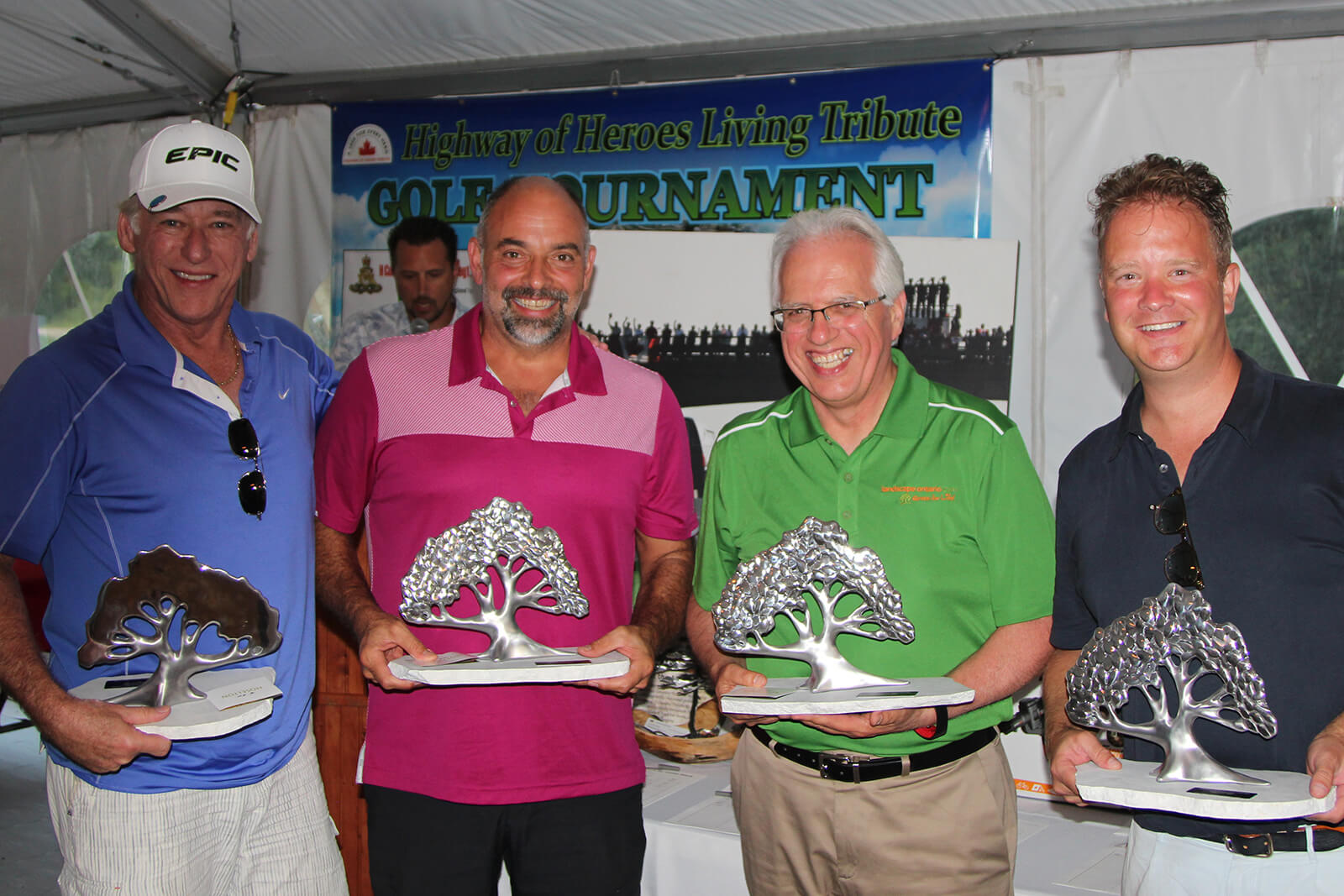 The winning foursome: Paul Rosenberg, Joe Morello, Tony DiGiovanni and Craig Stovel.