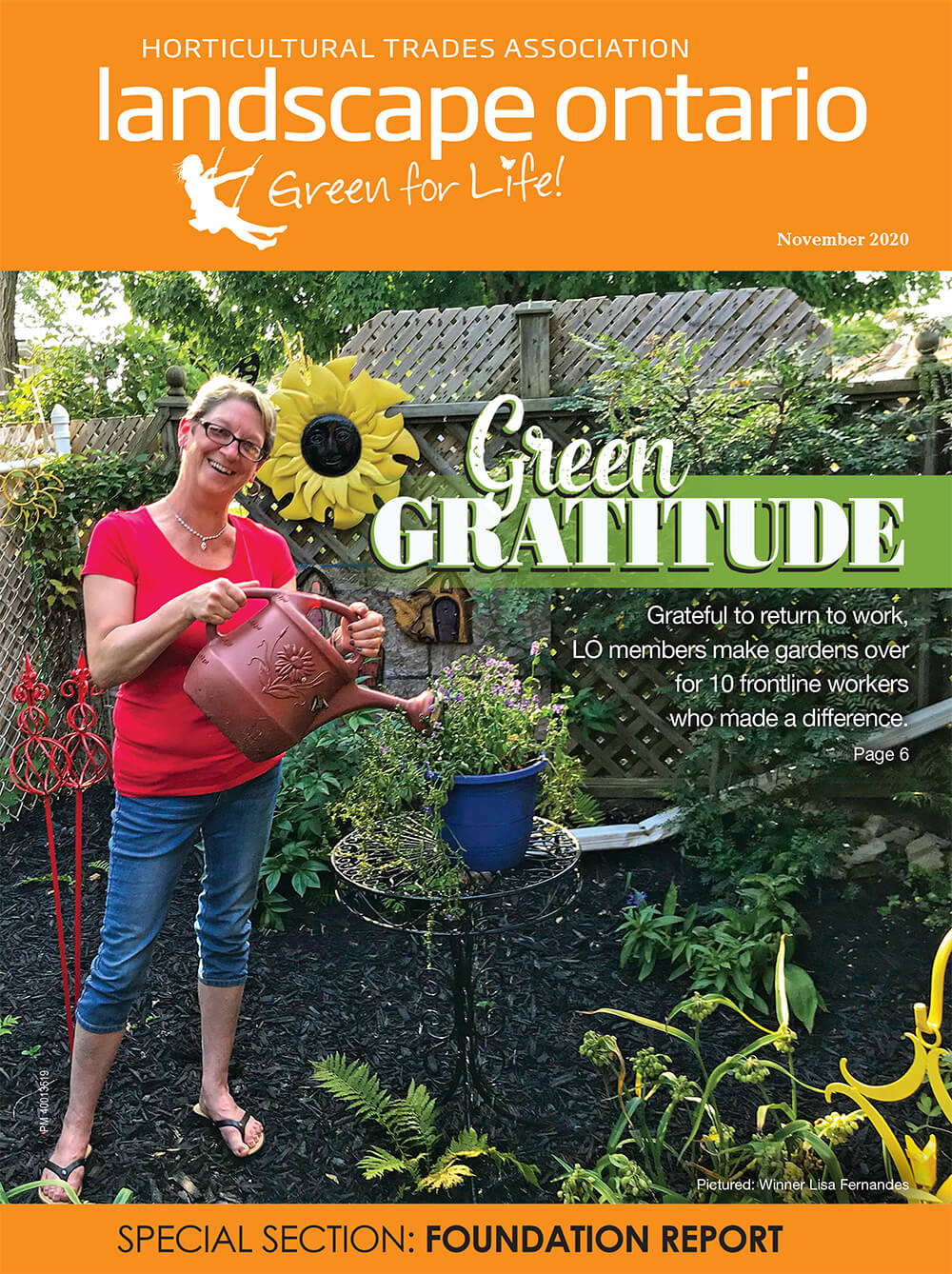 Cover of Landscape Ontario magazine November 2020
