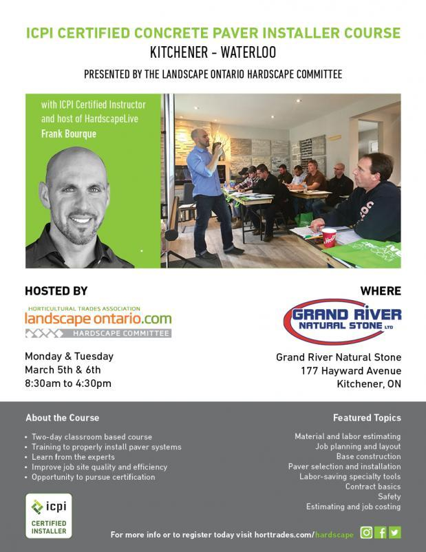 ICPI Certified Concrete Paver Installer Course - Kitchener/Waterloo ...
