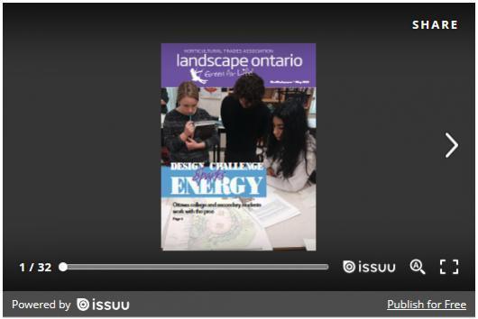Landscape Ontario magazine online - Landscape Ontario